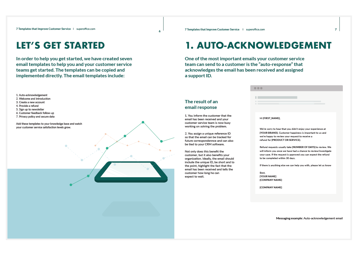 Following up on a click. 7 Award Winning Customer Service Email Templates