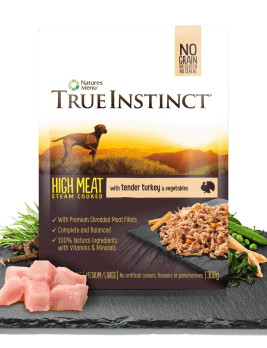 True Instinct High Meat Chicken Fillet with Tender Turkey for Adult Dogs 300g Pouch