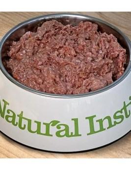 Natural Instinct Senior Dog Food in Bowl