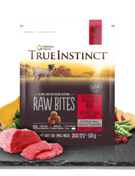 True Instinct Raw Bites Small Breed Beef 500g Bag