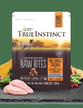 True Instinct Raw Bites Small Breed Chicken 500g Bag