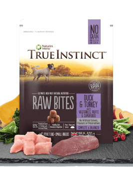 True Instinct Small Breed Dog Duck and Turkey 500g Bag