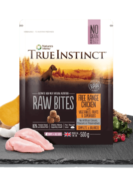 True Instinct Raw Bites Puppy Chicken 500g Bag