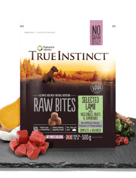 True Instinct Raw Bites Puppy Lamb 500g Bag