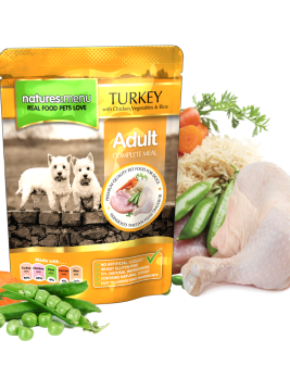 Natures Menu Dog Food Pouch Turkey with Chicken 300g Pouch