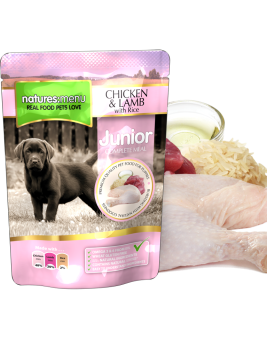 Natures Menu Junior Dog Food Pouch Chicken & Lamb 300g Pouch