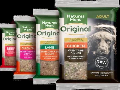 Natures Menu Original Raw Meals Multipack 12 x 300g Packshot