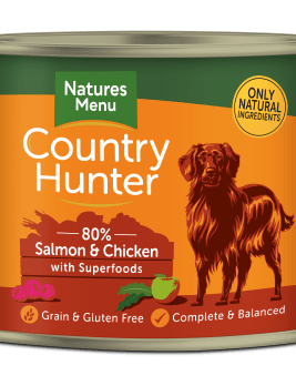 Country Hunter Dog Food Salmon with Chicken 600g Can Front