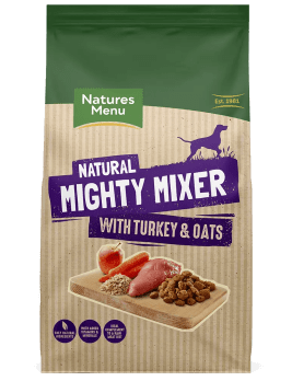Natures Menu Natural Mighty Mixer with Turkey & Oats Front of Pack