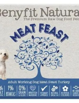 Benyfit Natural Meat Feast Turkey 500g Tub