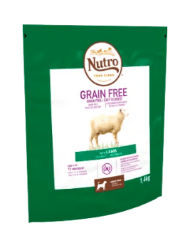 Nutro Grain Free Dry Adult Lamb 1.4kg Bag
