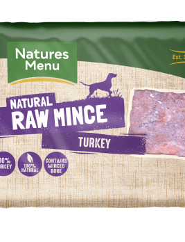 Natures Menu Turkey Block 400g Front of Pack
