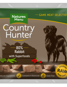 Natures Menu Country Hunter Nuggets Rabbit 1kg Bag Front of Pack