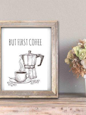 Plakat o kawie plakat z kawa