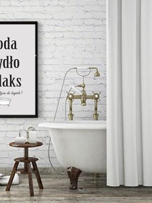 Plakat do łazienki do druku woda mydło relaks