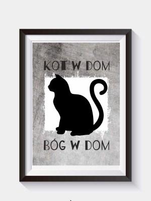 plakaty z kotem do wydruku