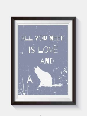 all you need is love plakaty kotów