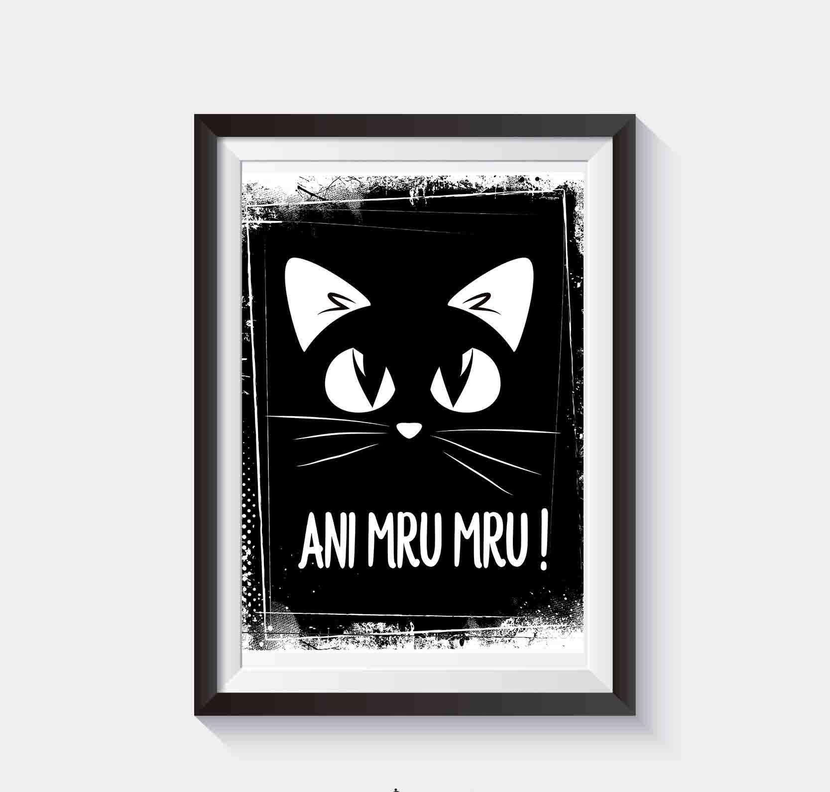 Czarny Kot Plakat Na ścianę Do Pobrania I Wydruku Superplakatpl