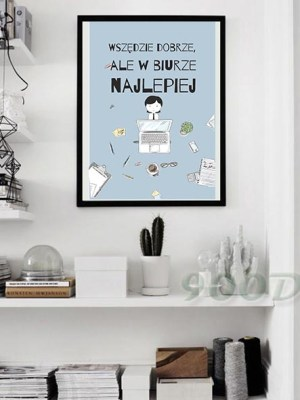plakat motywacyjny do biura do gabinetu szefa