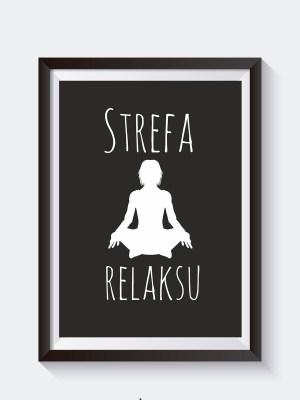 plakat joga na ścianę do łazienki