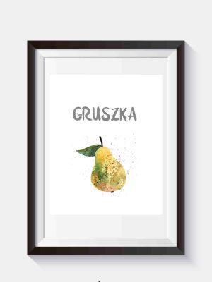 Darmowy plakat na ścianę z motywem smakowitej gruszki