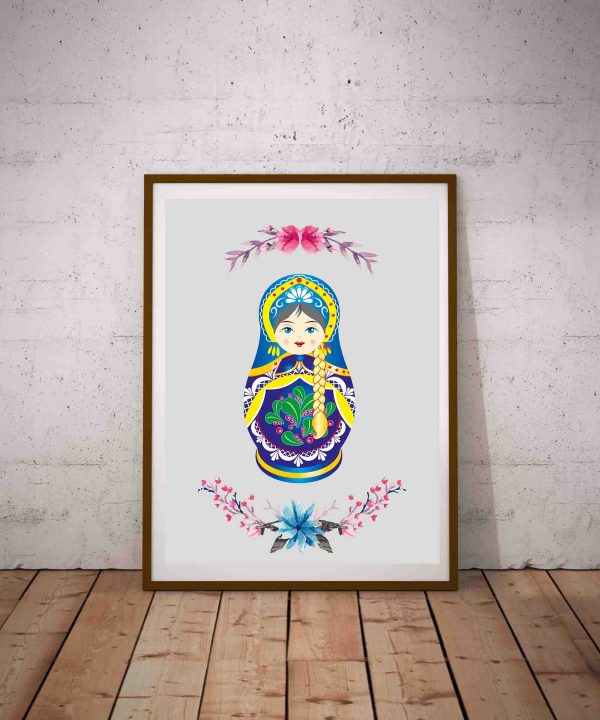 Plakat do pokoju dziecka pdf z motywem ludowym