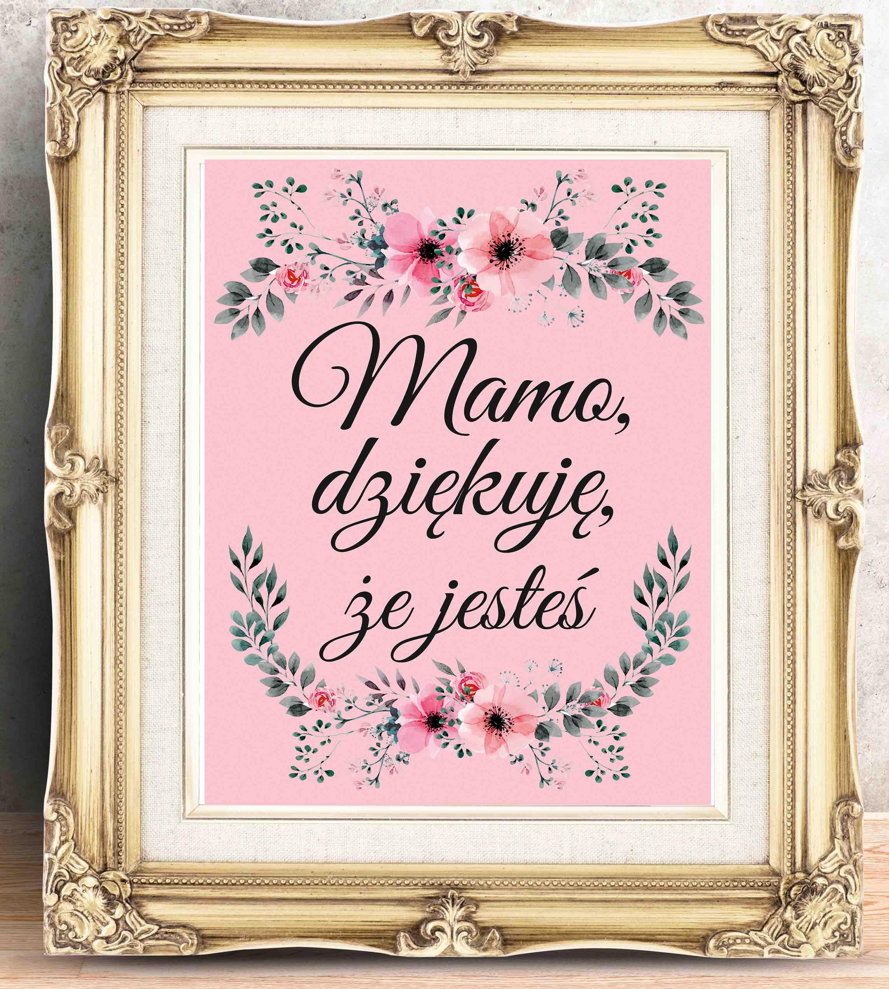 świetny Plakat Na Dzień Matki Plakat Z Podziękowaniem Dla Mamy