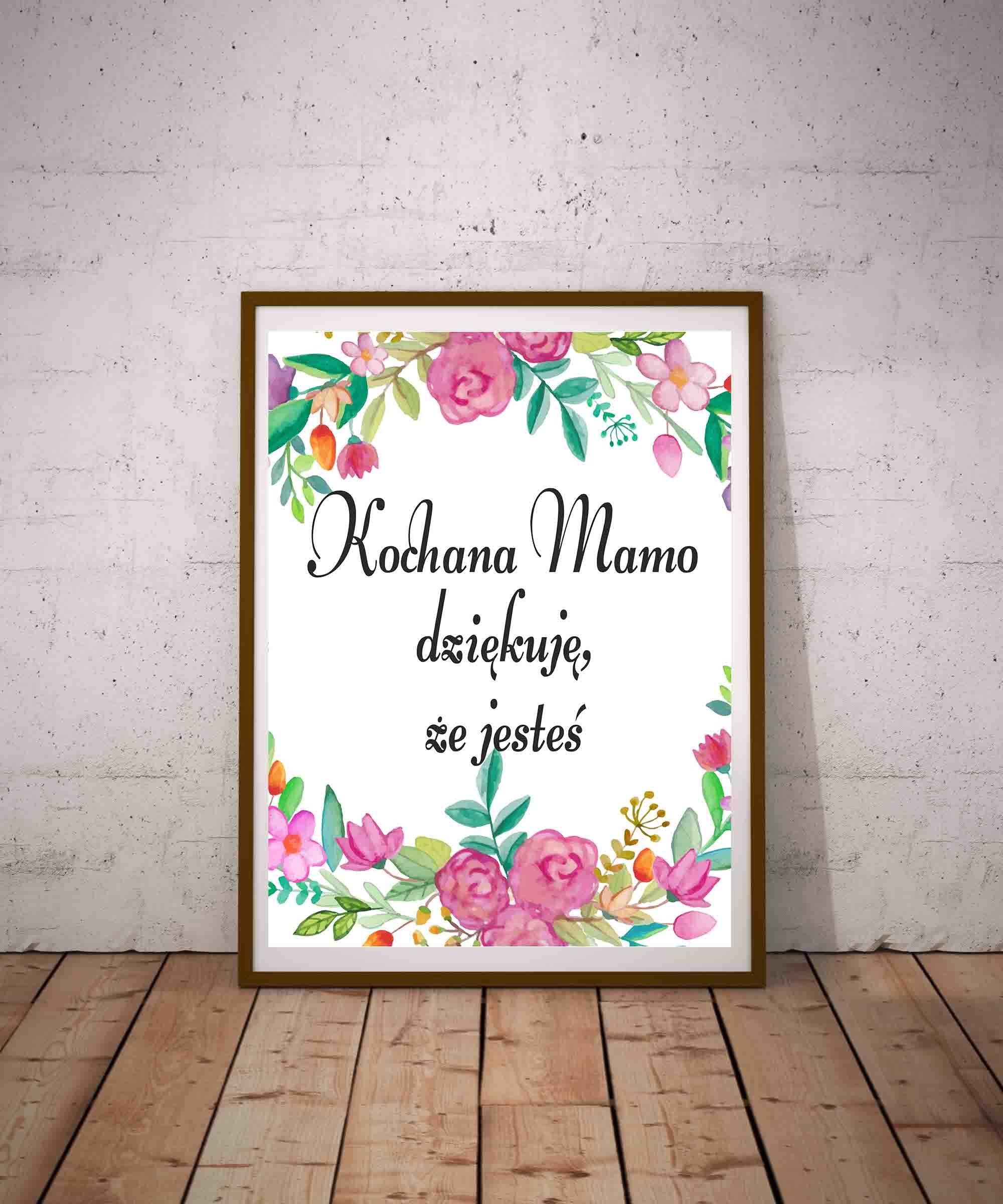 Kochana Mamo Dziękuję że Jesteś Plakat Na Dzień Matki Do Pobrania