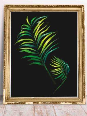 Fajny plakat do pokoju z motywem tropikalnego liścia