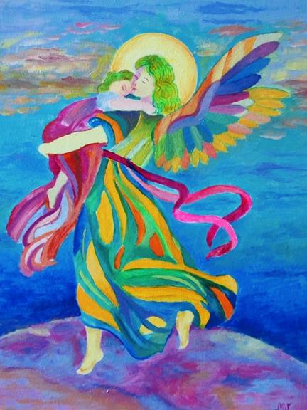 plakaty z aniołami stróżami