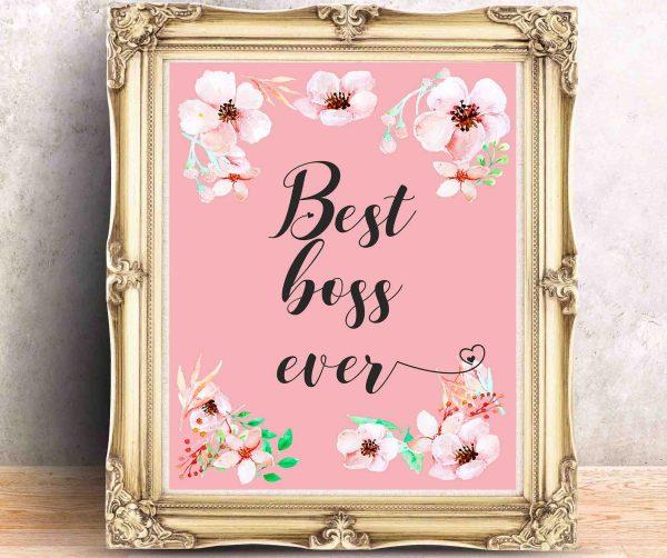 Best Boss Ever Najlepszy szef na świecie plakat do biura do wydruku