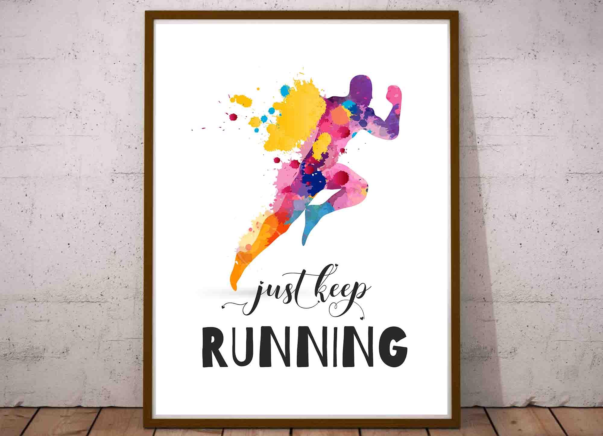 Plakat Inspirujące Cytaty Motywacja Do Biegania I Do Sportu