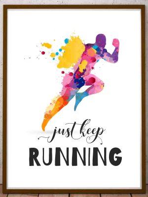Plakat inspirujące cytaty, motywacja do biegania i do sportu