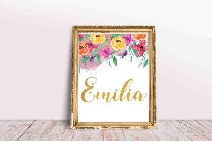 0432_Napis z imieniem na ścianę dla dziewczynki Emilia-1