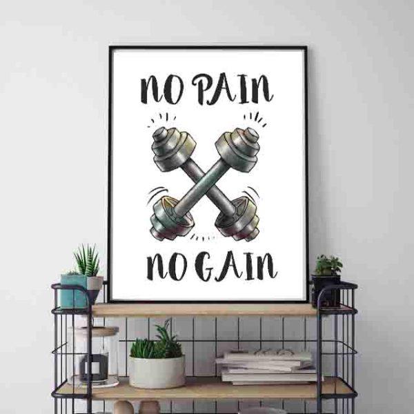 Plakaty cytaty o siłowni po angielsku