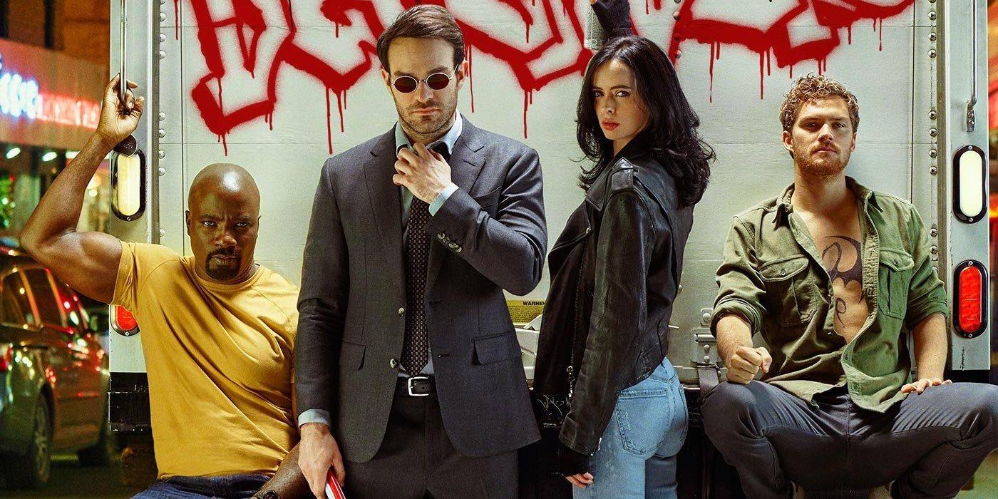 Daredevil, Jessica Jones, Luke Cage et Iron Fist : The Defenders au complet