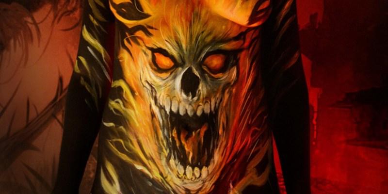 Bodypaint Ghost Rider, par Denis Lapierre