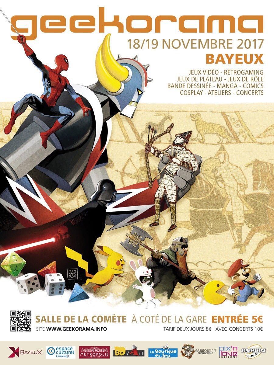 Geekorama, affiche de Denis Bajram