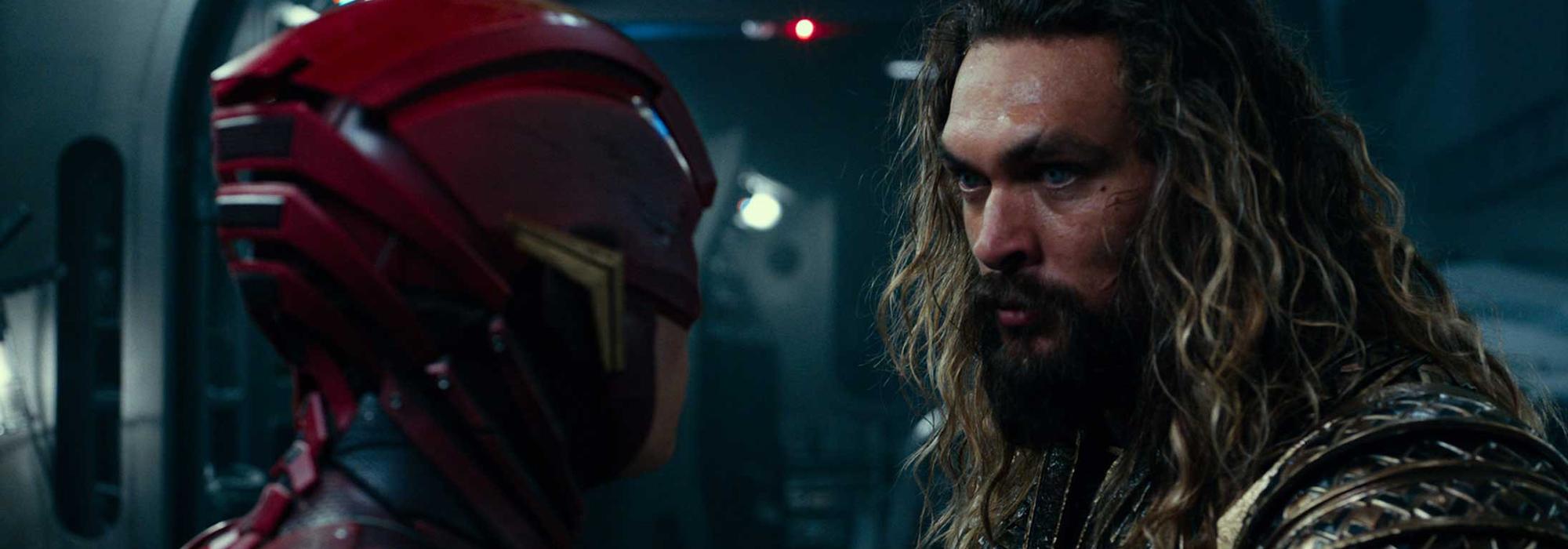 Flash et Aquaman dans Justice League