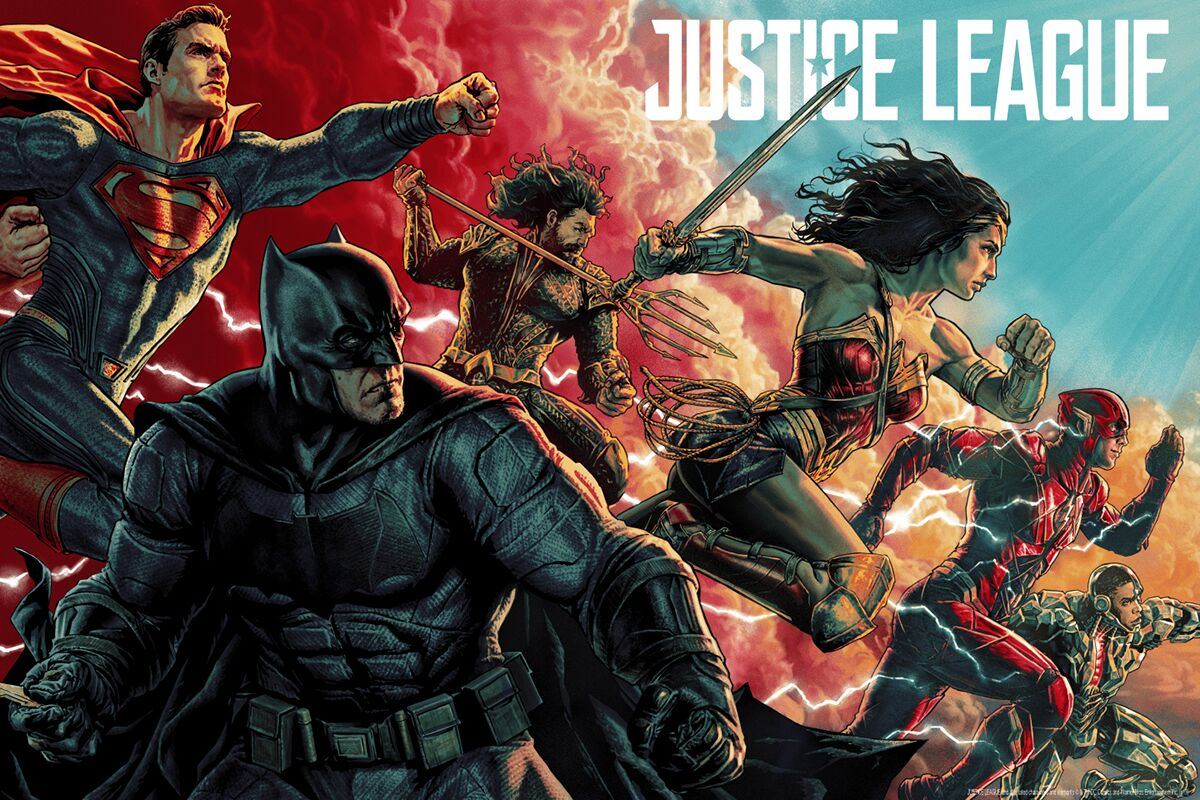 Justice League : le poster Mondo par Lee Bermejo