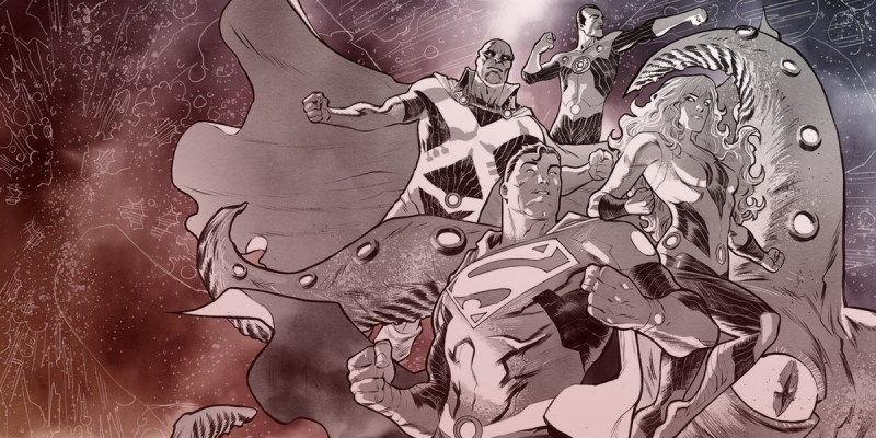 Justice League: No Justice #1 avec la team Mystery, cover par Francis Manapul