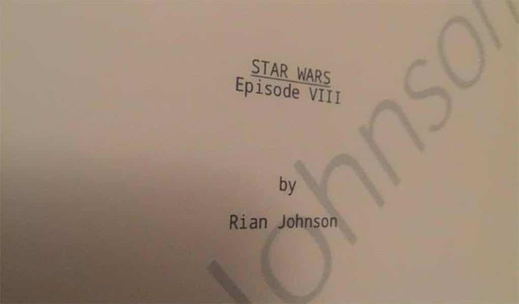 Le script de Star Wars 8 : Les Derniers Jedi