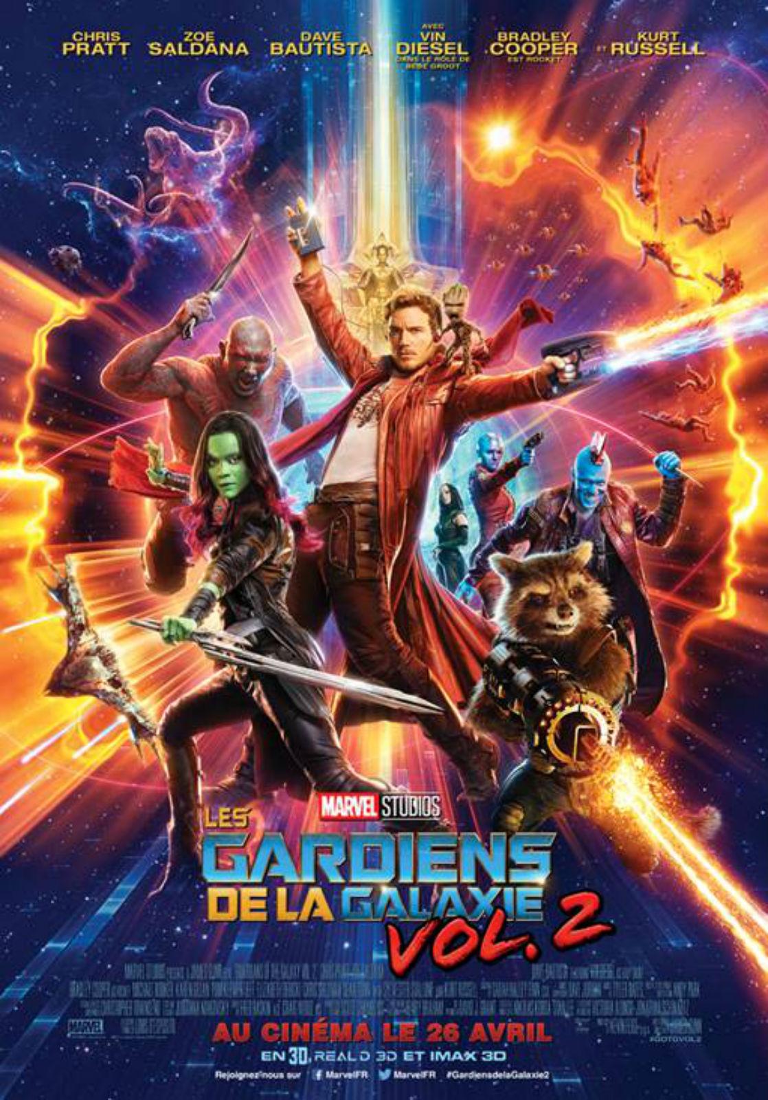 Affiche Les Gardiens de la Galaxie vol. 2