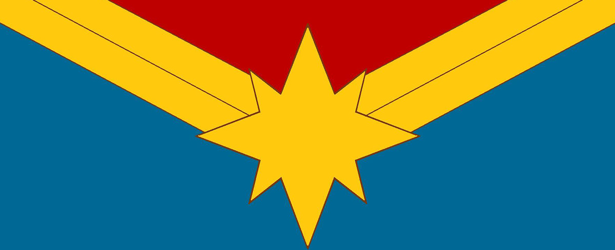 Le logo de Captain Marvel.