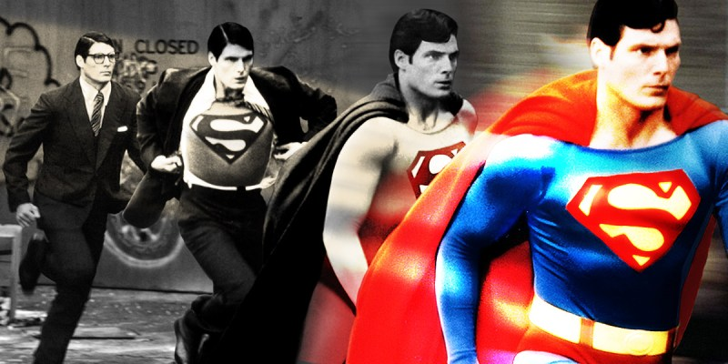 Christopher Reeves dans le rôle de Superman