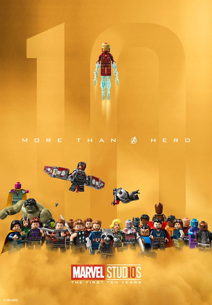 Les 10 ans de Marvel Studios version LEGO