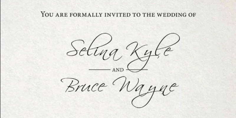 Le carton d'invitation du mariage (DC Comics)