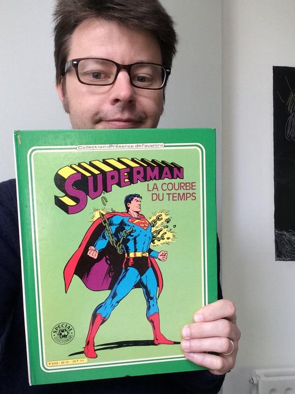 Il traduit les comics de Superman : Laurent Queyssi