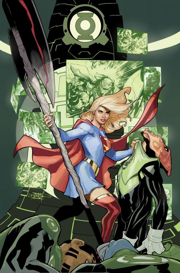 Supergirl #22 - couverture variante par Terry Dodson