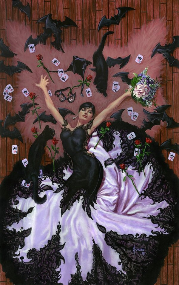 Batman #50, couverture alternative de Joe Jusko